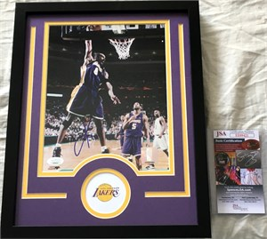 Kobe Bryant autographed Los Angeles Lakers 8x10 photo matted & framed