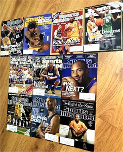 Kobe Bryant Los Angeles Lakers lot of three Sports Illustrated issues