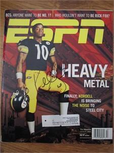 Kordell Stewart autographed Pittsburgh Steelers 2002 ESPN Magazine
