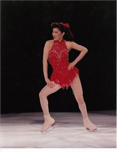 Kristi Yamaguchi 8x10 ice skating photo