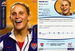 Kristine Lilly 2004 U.S. Women's National Team card