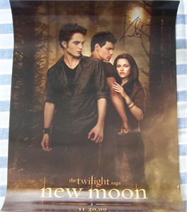 Kristen Stewart autographed Twilight New Moon mini movie poster