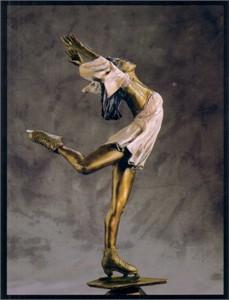 Kristi Yamaguchi skating 5x7 1998 Blades to Bronze postcard