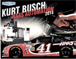 Kurt Busch autographed Rubbermaid Racing NASCAR 8 1/2 x 11 photo card