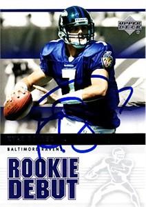 Kyle Boller autographed Baltimore Ravens 2005 Upper Deck card