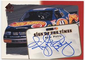Kyle Petty certified autograph NASCAR 1998 SP Authentic card #8/240