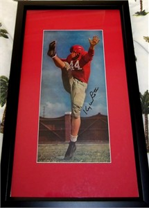 Kyle Rote autographed SMU Mustangs vintage football magazine photo matted & framed