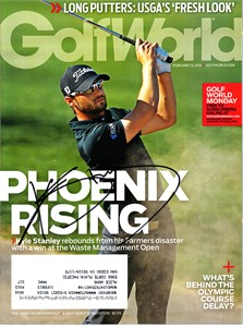 Kyle Stanley autographed 2012 Golf World magazine