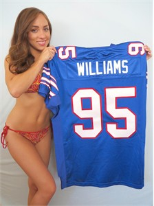Kyle Williams 2009 Buffalo Bills authentic Reebok blue game model jersey