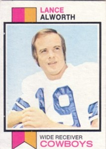 Lance Alworth Dallas Cowboys 1973 Topps card #61 ExMt/NrMt