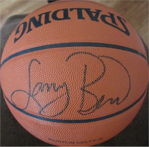 Larry Bird autographed Boston Celtics Spalding NBA game model basketball
