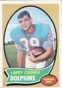 Larry Csonka Miami Dolphins 1970 Topps card #162 Ex