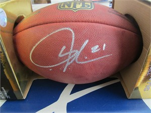 LaDainian Tomlinson autographed Wilson NFL game model football