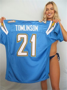 LaDainian Tomlinson San Diego Chargers authentic Reebok game model powder blue jersey