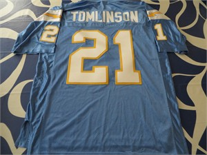 LaDainian Tomlinson San Diego Chargers authentic Reebok throwback powder blue 2002-2006 stitched jersey