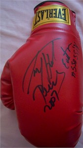 Larry Holmes autographed Everlast boxing glove inscribed Easton Assassin