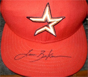 Lance Berkman autographed Houston Astros game model cap or hat
