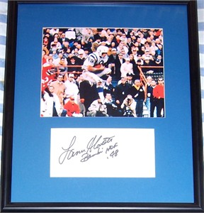 Lance Alworth autograph matted & framed with San Diego Chargers vintage 8x10 photo