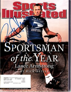 Lance Armstrong autographed 2002 Sportsman of the Year Sports Illustrated (Schwartz Sports)