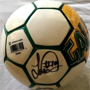 Landon Donovan autographed MLS Los Angeles Galaxy logo Wilson soccer ball