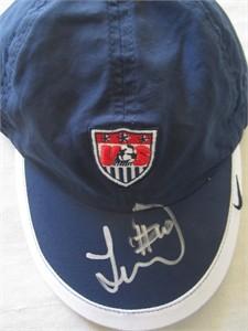 Landon Donovan autographed U.S. Soccer blue Nike cap or hat