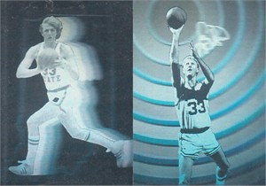 Larry Bird 1992 Lime Rock 2 hologram card set