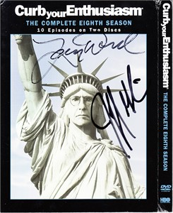 Larry David autographed Curb Your Enthusiasm Season 8 DVD set