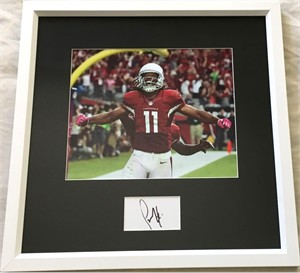 Larry Fitzgerald autograph matted & framed with Arizona Cardinals 8x10 photo