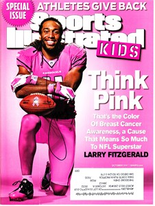 Larry Fitzgerald autographed Arizona Cardinals 2011 Sports Illustrated for Kids magazine