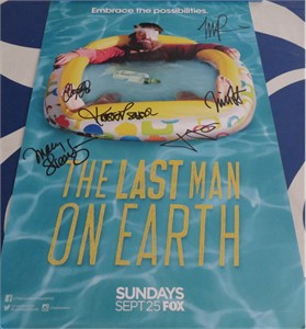 Last Man on Earth cast autographed 2016 Comic-Con poster (Will Forte January Jones)