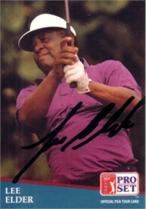 Lee Elder autographed 1991 Pro Set golf card