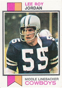 Lee Roy Jordan Dallas Cowboys 1973 Topps card #159