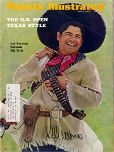 Lee Trevino autographed 1969 U.S. Open Sports Illustrated