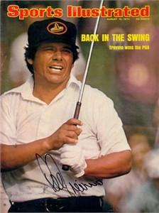 Lee Trevino autographed 1974 PGA Championship Sports Illustrated