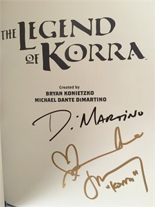 Janet Varney Michael DiMartino Irene Koh autographed Legend of Korra Turf Wars Part 1 graphic novel
