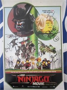 Lego Ninjago cast autographed 2017 Comic-Con poster (Dave Franco Olivia Munn Justin Theroux)