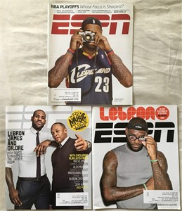 LeBron James lot of 4 different ESPN Magazine issues