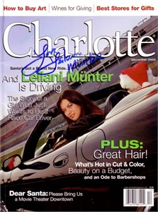 Leilani Munter autographed Charlotte magazine