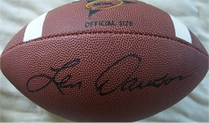 Len Dawson autographed Wilson NCAA football