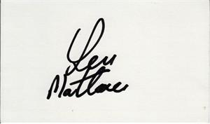 Len Mattiace autographed index card