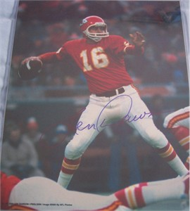 Len Dawson autographed Kansas City Chiefs 11x14 photo