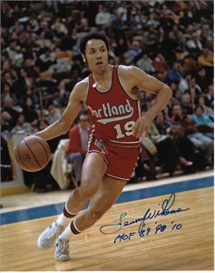 Lenny Wilkens autographed Portland Trail Blazers 8x10 photo inscribed HOF 89 98 10