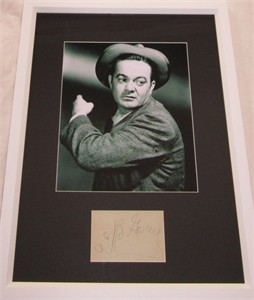 Leo Gorcey (Bowery Boys) autograph matted & framed with 8x10 portrait photo