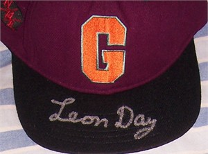 Leon Day autographed Homestead Grays Negro League cap or hat