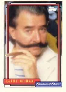 LeRoy Neiman 1992 Topps Stadium of Stars promo card