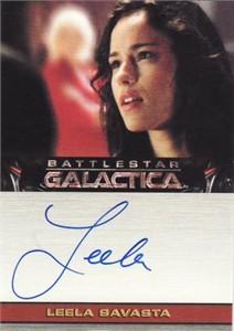 Leela Savasta Battlestar Galactica certified autograph card