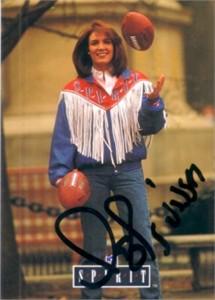 Lesley Visser (sportscaster) autographed 1992 Pro Line card