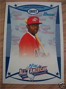 LeVon Washington 2008 AFLAC Bowman Rookie Card