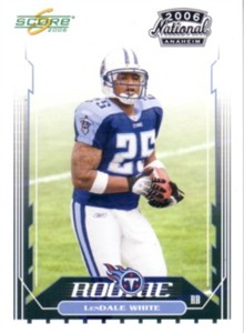 Lendale White Titans 2006 Score National Convention promo Rookie Card