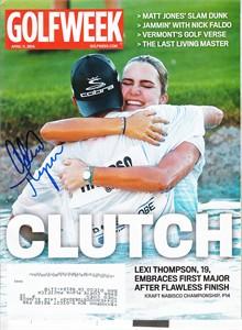 Alexis (Lexi) Thompson autographed 2014 Kraft Nabisco Championship Golfweek magazine